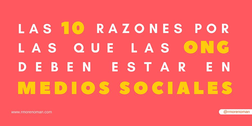 razones por las que las ONG deben estar en medios sociales