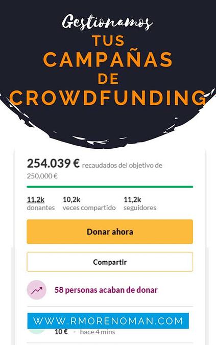 promocion campañas crowdfunding
