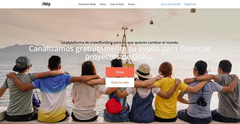 proyecto de iHelp  web de Crowdfunding Solidario