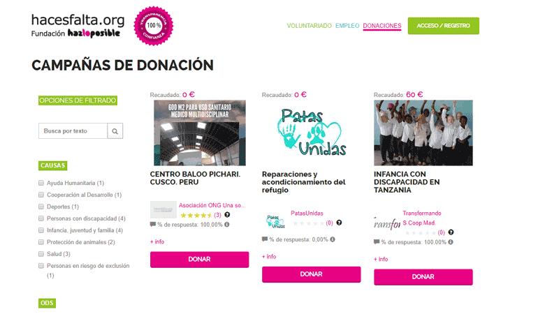 Proyecto Haces Falta Donaciones